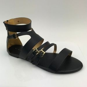 C Label Darby-2 Black Strappy Sandal